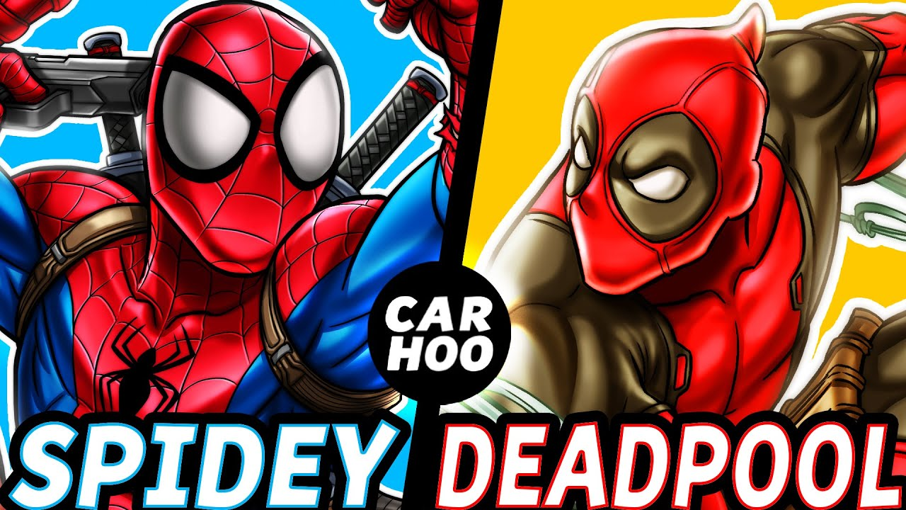 Elegant CARHOO Draws【 Spiderman U0026 Deadpool 】   YouTube