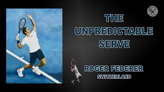 Roger Federer The Unpredictable Serve ATP Tennis Oil on Canvas Art 8 | The Berlin Tennis Gallery