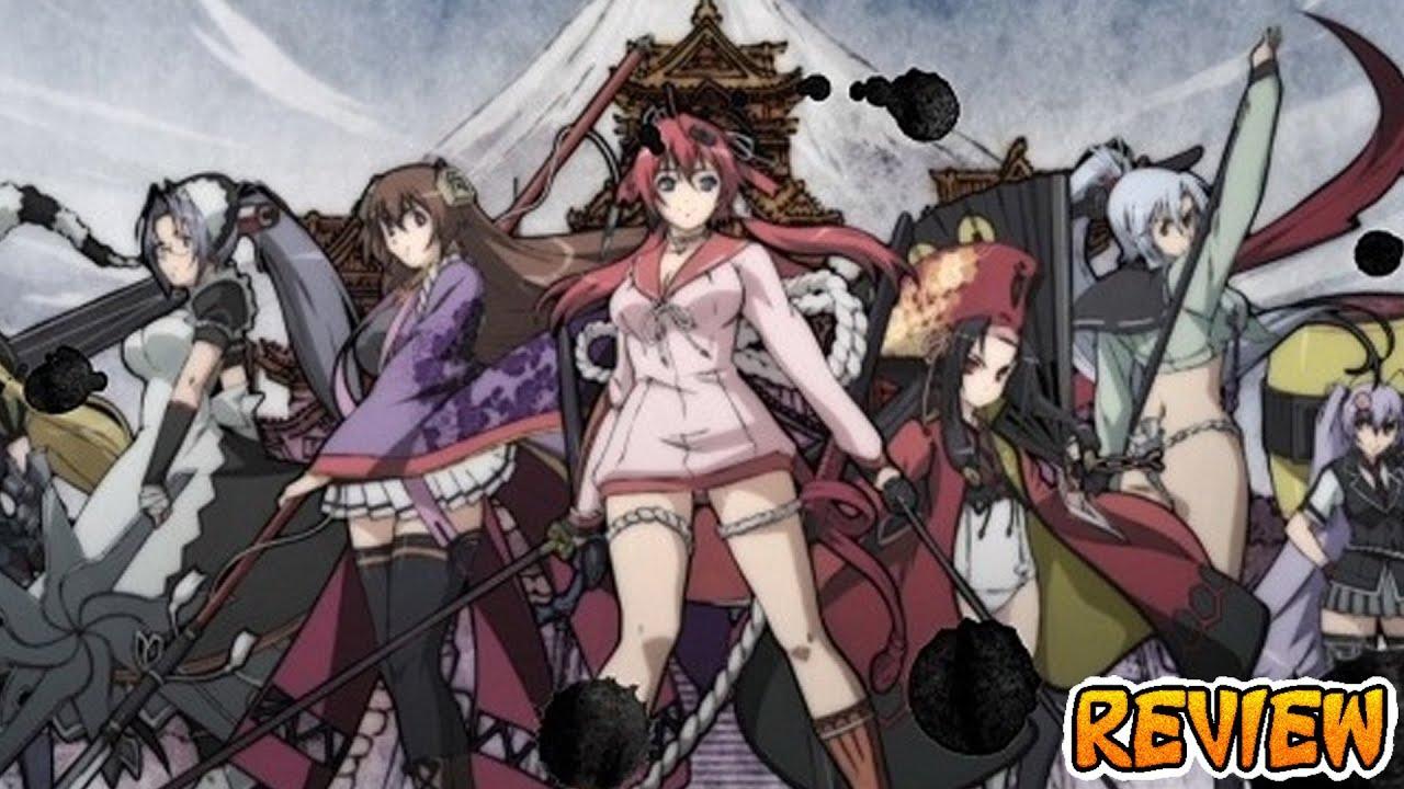 Samurai girls action comedy ecchi harem anime review 20 youtube