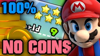 How many coins does it take to 100% New Super Mario Bros. Wii?