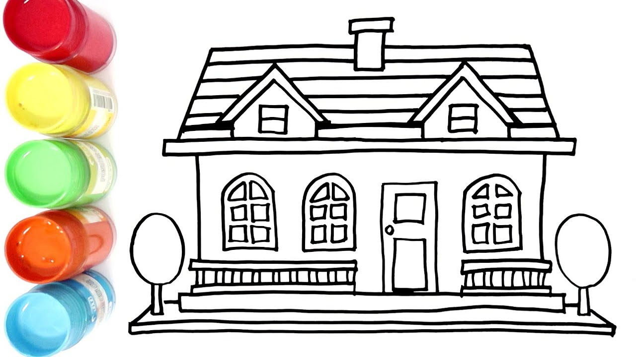 Cara Menggambar Dan Mewarnai Rumah Mewah Orang Kaya