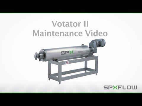 SPX FLOW WCB - Votator II Scraped Surface Heat Exchanger Maintenance Procedures