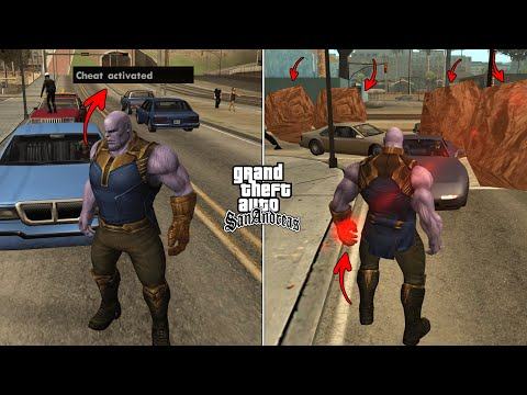 Secret Thanos Cheat Code In GTA San Andreas [ALL ABILITIES]