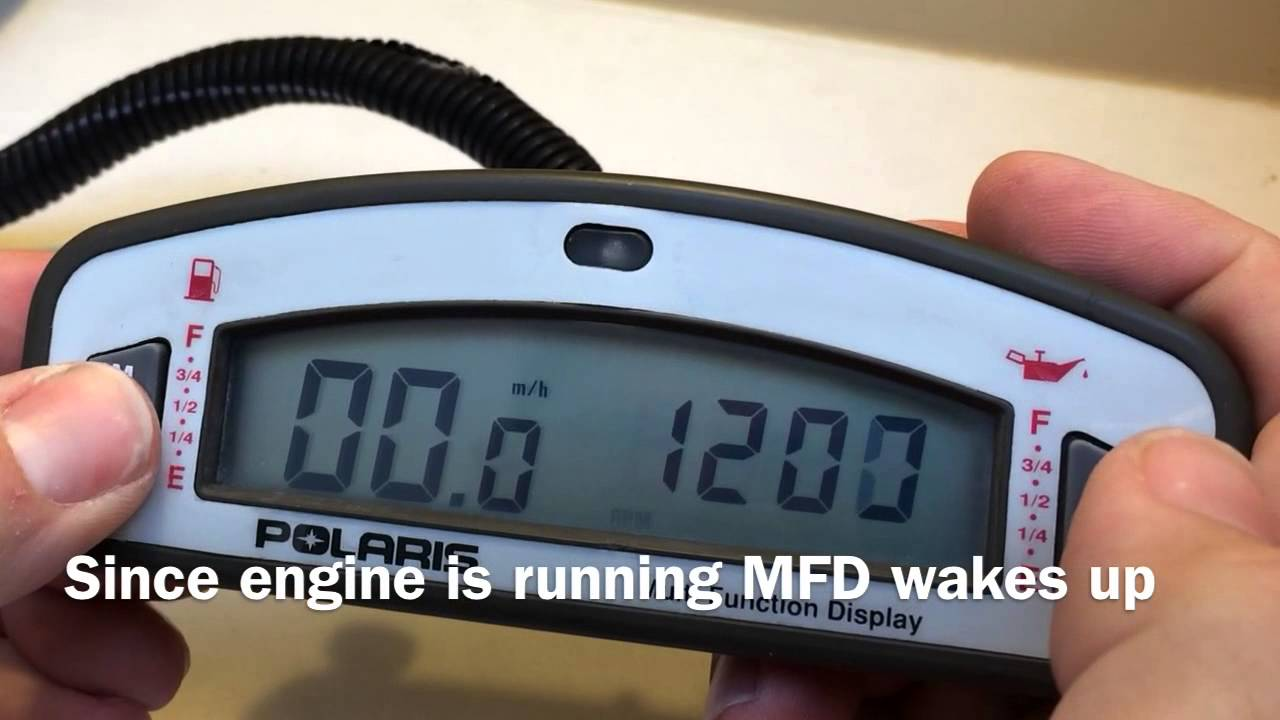 How to Reset the Engine Hour counter on the oval Polaris MFD