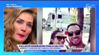 Carola de Moras se emocionó recordando a su amigo diseñador  LA MAÑANA