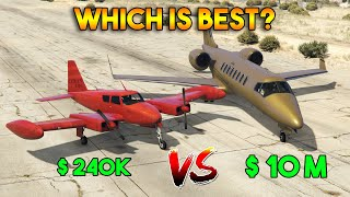 GTA 5 ONLINE : CHEAPEST CUBAN 800 VS MOST EXPENSIVE LUXOR DELUXE (WHICH IS BEST PLANE?)