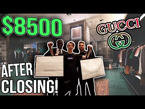 MY $8500 NEW YORK CITY GUCCI SHOPPING SPREE!! (After Hours!)