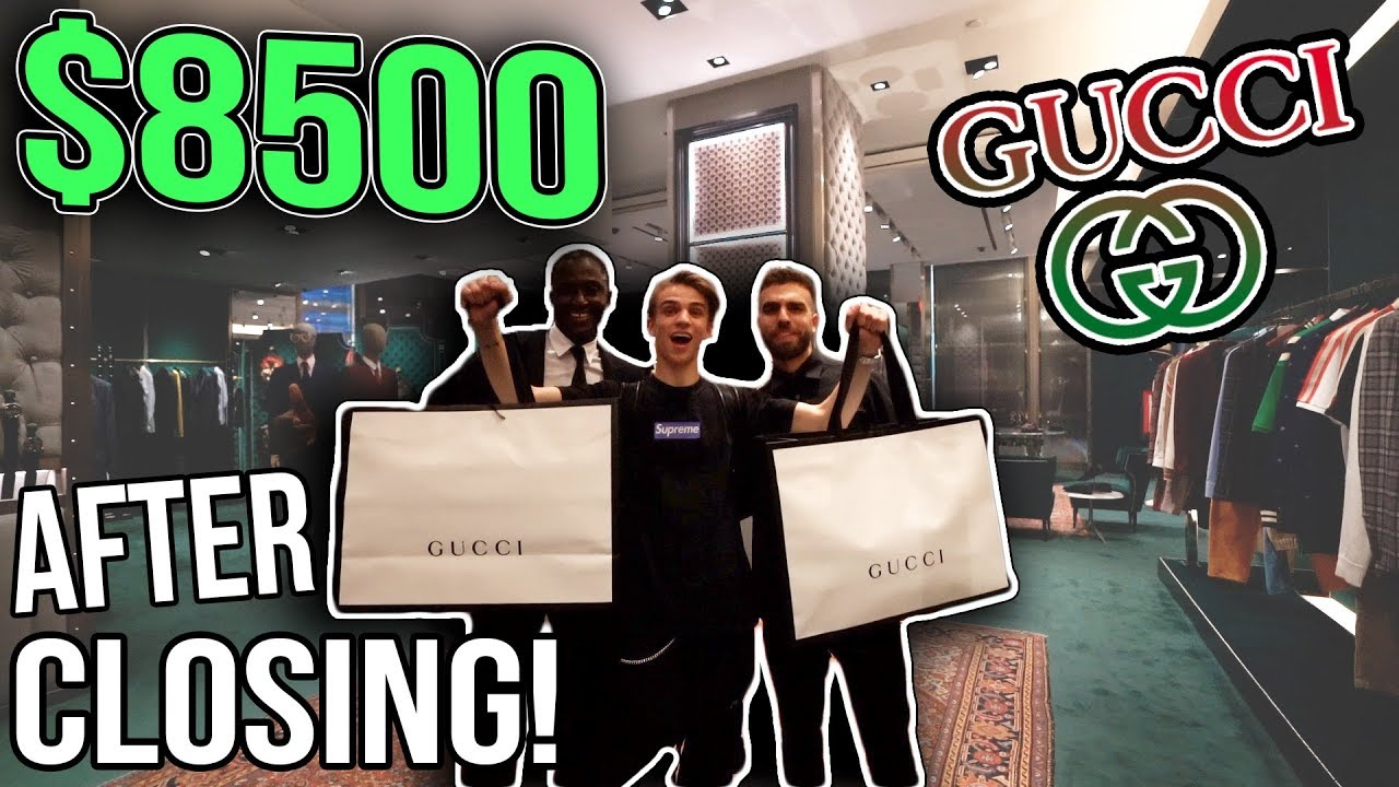 my 8500 new york city gucci shopping spree after hours. Black Bedroom Furniture Sets. Home Design Ideas