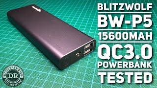 BlitzWolf BW-P5 15600mAh QC3.0 powerbank tested