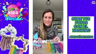 #DesafíoArteKids 3: Francisca nos enseña a hacer nubes y arcoíris con cartón