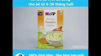 Bột sữa dinh dưỡng HiPP vị bí đỏ 250g cho bé từ 6-36 tháng tuổi - Bibabo