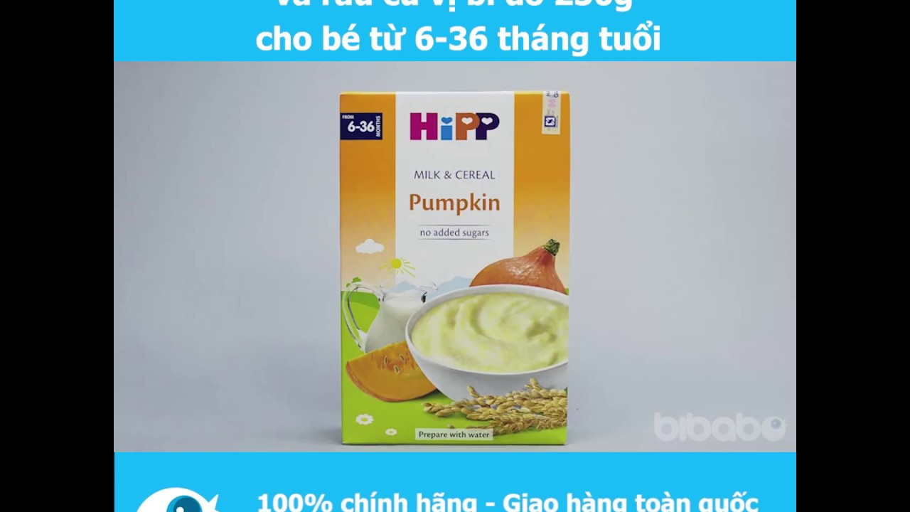 Bột sữa dinh dưỡng HiPP vị bí đỏ 250g cho bé từ 6-36 tháng tuổi – Bibabo
