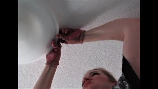 How to remove glass cover from ceiling light with 3 clips: Sequel!