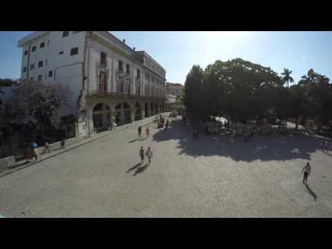 Square in Cuba havana in 4k