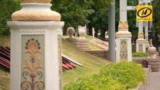 В Минске раскрасили мачты старых  фонарей