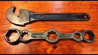 Two Vintage Oddball Wrenches