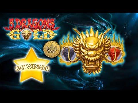 BIG WIN - MAX BET - 5 DRAGONS GOLD - Slot Machine Bonus