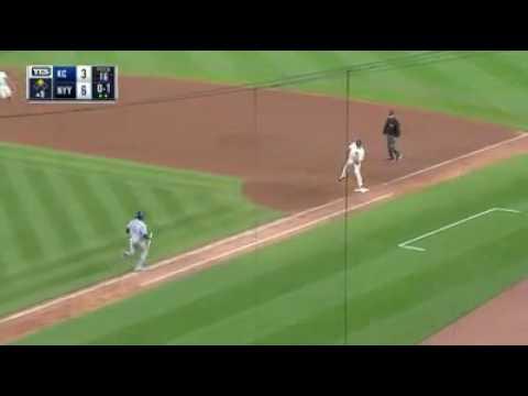 Aroldis Chapman's Final Out In Yankee Debut