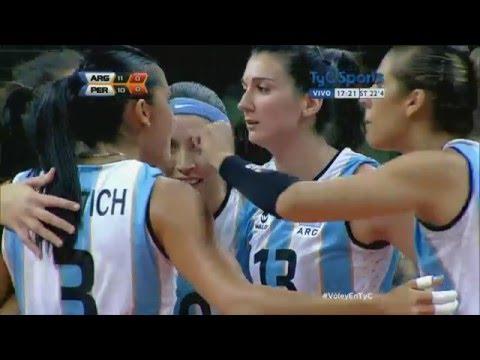 Preolímpico de vóley femenino: Argentina vs. Perú
