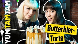 BUTTERBIER-Torte aus HOGWARTS // Harry Potter Special mit princessofpizza // #yumtamtam
