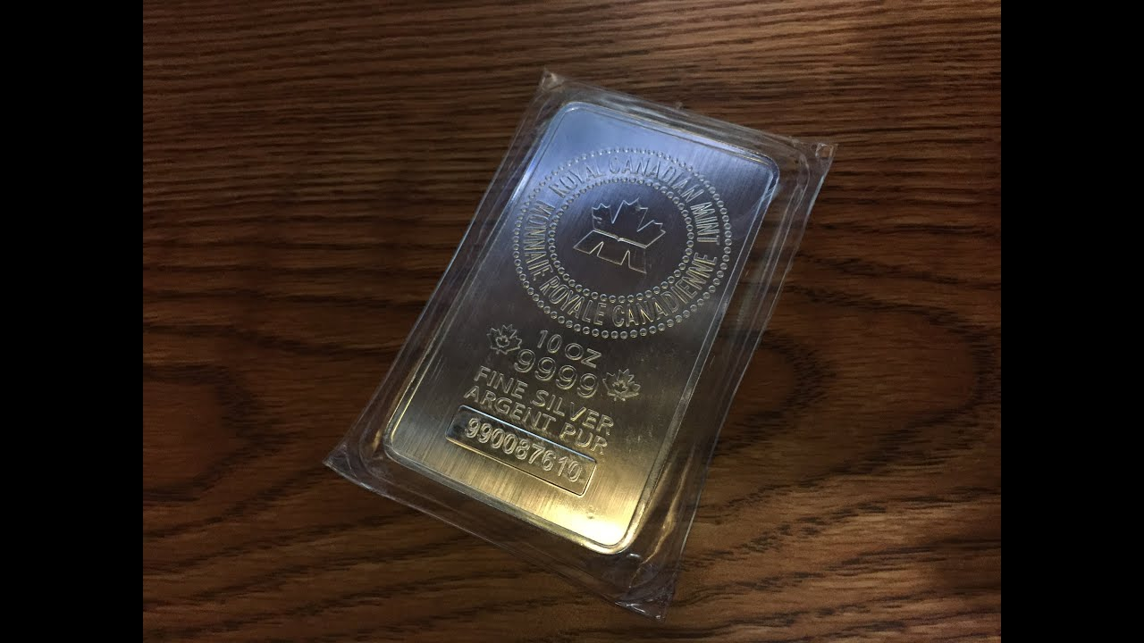 10 Oz Royal Canadian Mint Rcm Silver Bars Unboxing Youtube