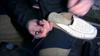 Как прошить подошву, Ремонт обуви!
