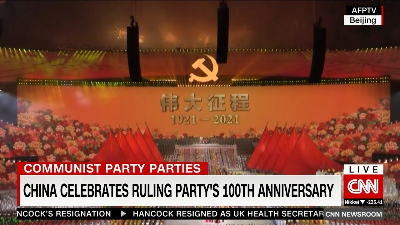 In China, fireworks and medals ahead of Party's 100th anniversary