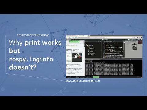 [ROS Q&A] 020 - Why print works but rospy loginfo doesn't?