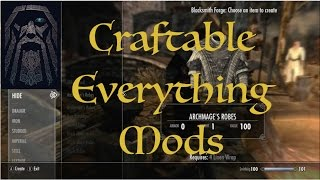 Skyrim SE Craftable Everything Mods