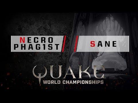 Quake - Necrophag1st  vs. sane [1v1] - Quake World Championships - Ro16 NA Qualifier #1