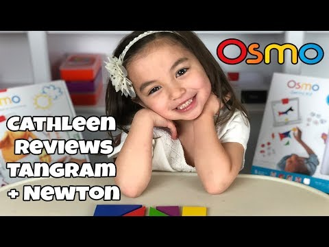Osmonaut Cathleen plays Tangram and Newton - Osmo Social Club and Cathleen's Toy Reviews
