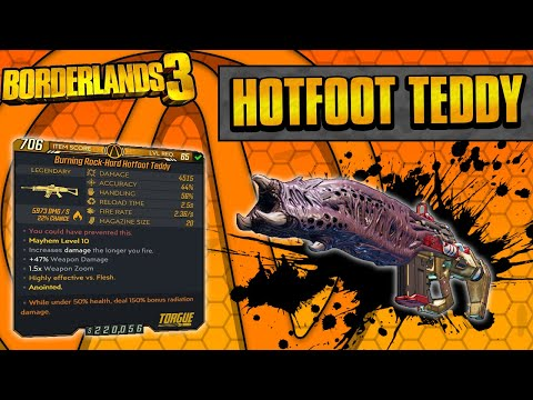 Borderlands 3 | Hotfoot Teddy Legendary Weapon Guide (Flamethrower Chains!)