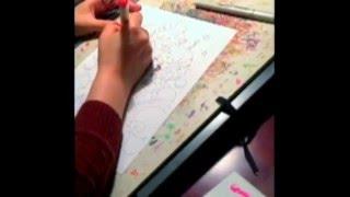 『シュガシュガルーン』クリスマスイラストの着彩風景をご紹介。