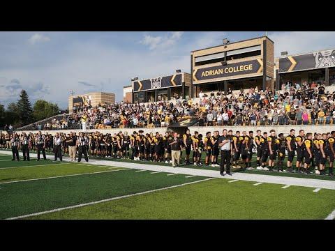 Adrian College Football Hosts Trine University l 10/3/20