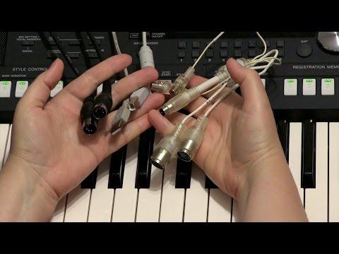 Как подключить синтезатор к компьютеру по миди
