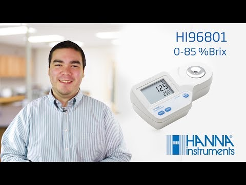 Learn about the Hanna Instruments Brix Refractometer for Food Analysis HI96801