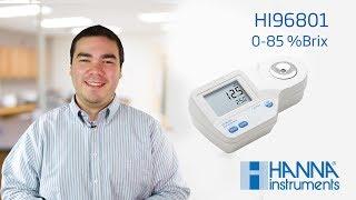 For Sugar Analysis 0-85/% Brix Range Hanna Instruments HI 96801 Digital Refractometer