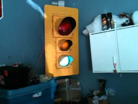 Garage Wall Decorations - Stop Sign & Traffic Light - YouTube
