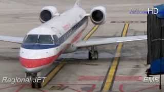 American Regional E JET Domestic Flight