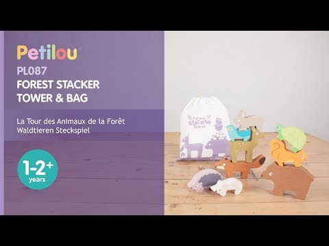 Forest Stacker Tower & Bag | Petilou© Collection | Le Toy Van | Traditional Wooden Toys
