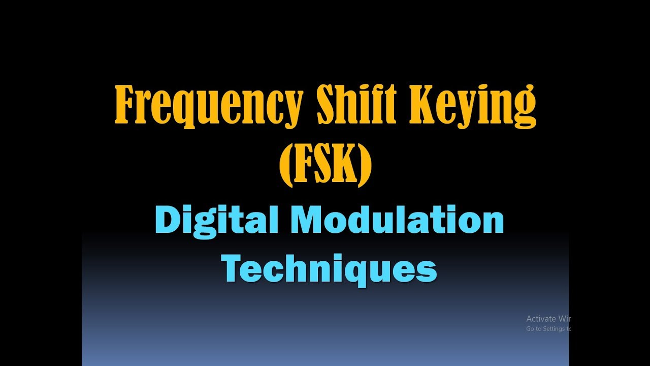 Frequency Shift Keying Modulation/FSK Modulation (Digital Modulation  Techniques and Schemes [HD]