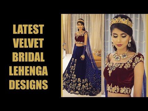 Exclusive Velvet Bridal Lehenga Designs