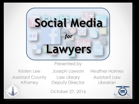 Legal Tech Institute CLE - Social Media for Lawyers