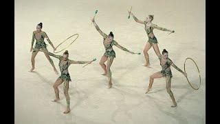 Художественная гимнастика девочки .Rhythmic gymnastics 2015 Russia Groups(Художественная гимнастика — вид спорта, выполнение под музыку различных гимнастических и танцевальных..., 2015-12-30T08:19:52.000Z)