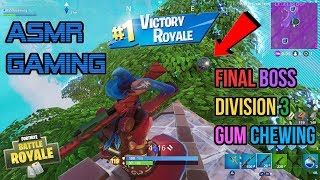 ASMR Gaming | Fortnite Secret Final Boss! Division 3 Gum Chewing 🎮Controller Sounds + Whispering😴💤