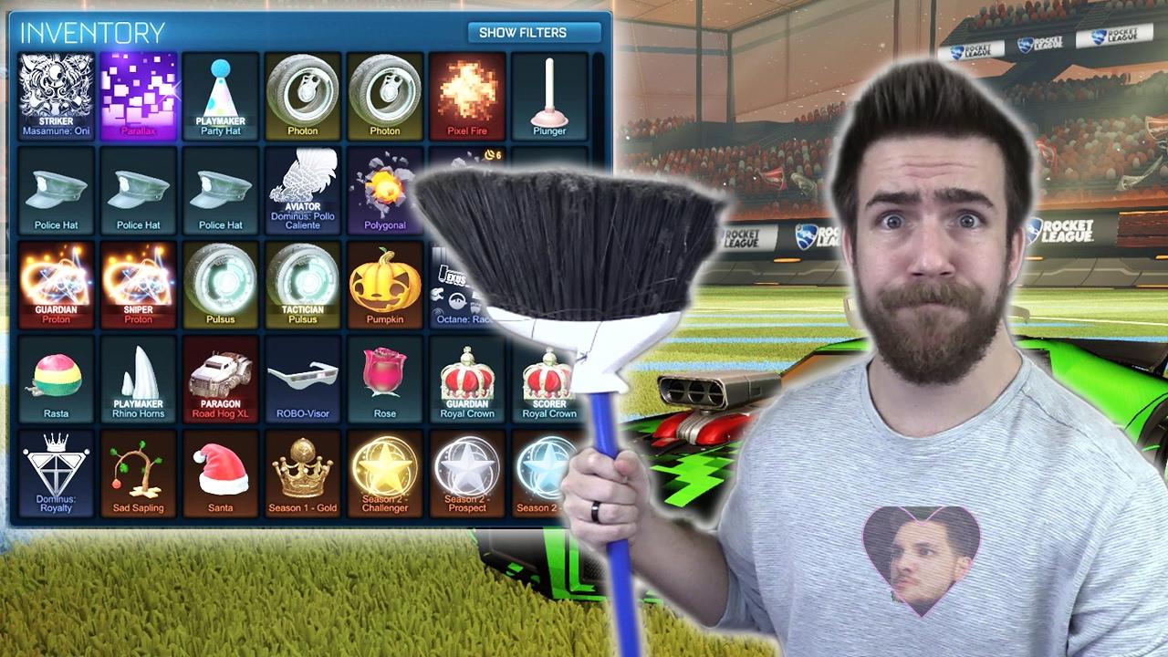 Rocket League Garage >> CLEANING OUT MY ROCKET LEAGUE GARAGE - YouTube