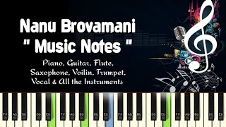 Nanu Brovamani (sri ramadasu) nagarjun/Piano, Guitar, Flute, Saxophone, Voilin Notes