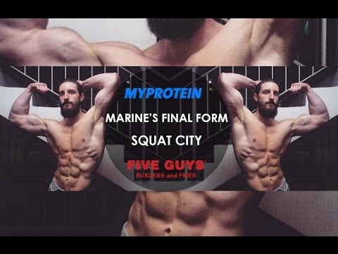 VIDEO SHOOT MyProtein | Marine's FINAL FORM | FIVE GUYS Review