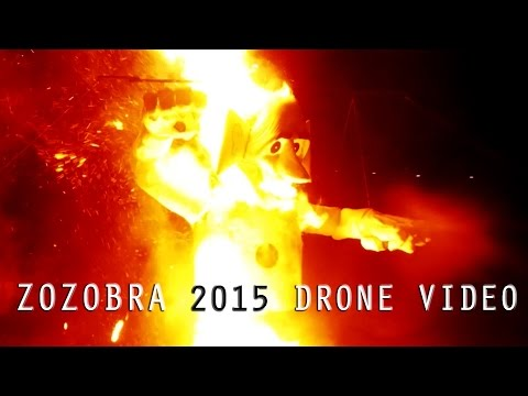 Burning of Zozobra 2015 Aerial Video