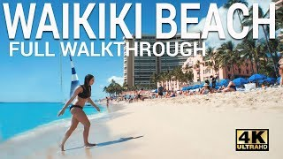 Waikiki Beach Walkthrough With Hotel Locations
